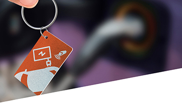 image showing PVC key tags with rfid