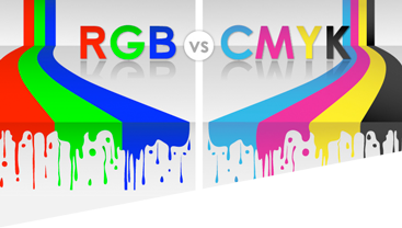 a graphic to accompany an infographic on rgb vs cmyk ink usage