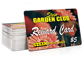 picture of a garden center rewards card