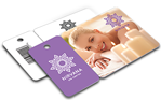 Custom printed plastic card & key tag combos by CardPrinting.com.