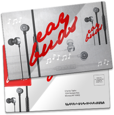 Plastic postcard direct mailer PCDM206 custom printed by CardPrinting.com