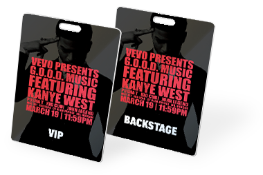 Event passes and ID badges of all sizes custom printed by CardPrinting.com