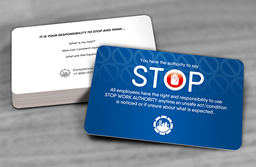 Stop Work Authority Cards